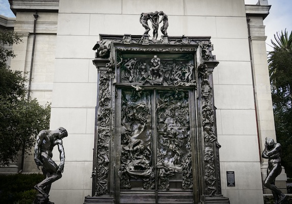 In 1880 Rodin was commissioned to produce \ a decorative door destined for the Museum of Decorative Arts Bas reliefs representing The Divine Comedy of ... & Rodin Collection Cantor Art Center